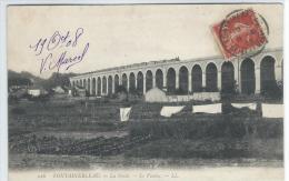CPA - 77 - FONTAINEBLEAU -  La Foret   -  Le Viaduc  -  Train Avec Wagons - Très Bon état - - Fontainebleau