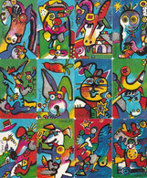 GERMANY(chip) - Set Of 12 Cards, Zodiac, Used - Zodiaco