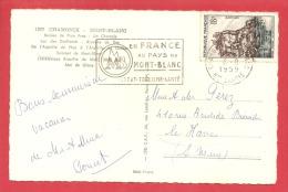 N°Y&T 1127 CHAMONIX   Vers   LE HAVRE   Le   06 AOUT1959 (2 SCANS) - Storia Postale