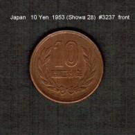 JAPAN    10  YEN  1953  (Hirohito 28---Showa Period)  (Y # 73) - Japan