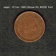 JAPAN    10  YEN  1960  (Hirohito 35---Showa Period)  (Y # 73a) - Japan