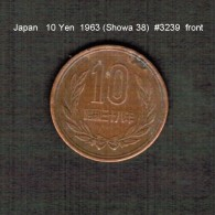 JAPAN    10  YEN  1963  (Hirohito 38---Showa Period)  (Y # 73a) - Japan