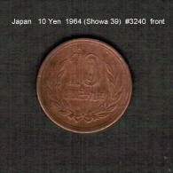 JAPAN    10  YEN  1964  (Hirohito 39---Showa Period)  (Y # 73a) - Japan