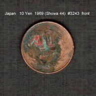 JAPAN    10  YEN  1969  (Hirohito 44---Showa Period)  (Y # 73a) - Giappone