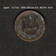 JAPAN    10  YEN  1969  (Hirohito 44---Showa Period)  (Y # 73a) - Japan