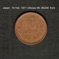 JAPAN    10  YEN  1971  (Hirohito 46---Showa Period)  (Y # 73a) - Japan