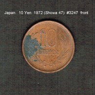 JAPAN    10  YEN  1972  (Hirohito 47---Showa Period)  (Y # 73a) - Japan