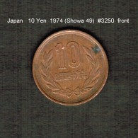 JAPAN    10  YEN  1974  (Hirohito 49---Showa Period)  (Y # 73a) - Japan