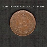 JAPAN    10  YEN  1976  (Hirohito 51---Showa Period)  (Y # 73a) - Japan