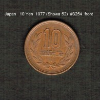JAPAN    10  YEN  1977  (Hirohito 52---Showa Period)  (Y # 73a) - Japan