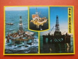 """29162 PC: NORTH SEA STRUCTURES:  OIL STRIKE:  1) Ocean Voyager. 2) """"Chris Chenery""""  3) Brent """"B"""" . - Postcards"""
