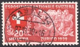 Switzerland, 20 C. 1939, Sc # 254, Mi # 342, Used - Switzerland