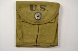 Etui / Pochette Porte Chargeur Pour Carabine USM1 Deuxieme Guerre Mondiale. US M1 WW2. Pocket Magazine Double Web - 1939-45