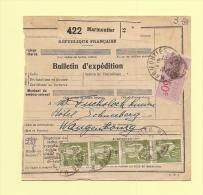 Bulletin D´expedition - Type Paix - Marmoutier - 29-12-1936 - 1932-39 Peace