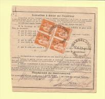Bulletin D´expedition - Type Paix - Ingwiller - 16-4-1937 - 1932-39 Peace
