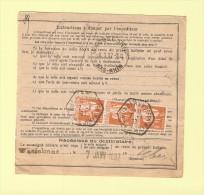 Bulletin D´expedition - Type Paix - Gundershoffen - 7-1-1937 - 1932-39 Peace
