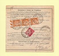 Bulletin D´expedition - Type Paix - Colmar - 7-4-1937 - 1932-39 Peace