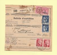 Bulletin D´expedition - Type Paix - Colmar - 21-9-1937 - 1932-39 Peace