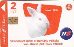 Latvia, D-091, Rabbit, 2 Scans. - Latvia