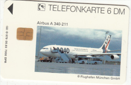 GERMANY(chip) - Airbus A340-211(O 979), Tirage 7000, 05/93, Used - Airplanes