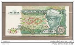 Zaire - Banconota Non Circolata Da 50 Zaires - 1988 - Zaire