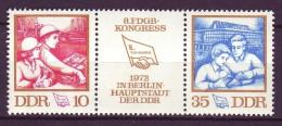 DDR - Mi-Nr. 1761 - 1762 Konreß FDGB Postfrisch - DDR