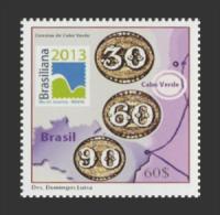 cv1302 Cabo Verde 2013 Brasiliana EX SOS stamp on Stamp