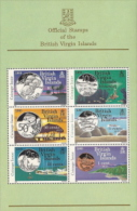 Virgin Isl,  Scott 2017 # 489a,  Issued 1985,  M/S Of 6,  NH,  Cat $ 6.50,  Coins - British Virgin Islands