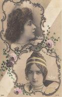 CPA  ARTISTES 1900  Médaiillon  ART NOUVEAU  PHOTO Reutlinger  CLEO De MERODE Et NEBBIA - Entertainers