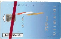 CARTE-PUCE-MONACO-MF43-50 U-10/96-SC7-700ANS DES GRIMALDI-NSB-LUXE - Monaco