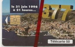 CARTE-PUCE-MONACO-MF41-50 U-05/96-SO3-377-CHANGEMENT DE NUMERATATION-JG-NSB-LUXE - Monaco