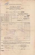 """BIGLIETTO D´IMBARCO DI TERZA CLASSE COL VAPORE  """" PRESIDENTE WILSON """"  /  PALERMO - NEW  YORK  _ 5.4.1929 - Inschepingsbiljetten"""