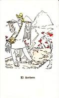 Medellin Colombia, Hotel Nutibara, Artist Image 'El Arriero' Man Dog, C1960s Vintage Advertising Card - Colombia