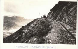 Colombia, Medellin Tranvia De Oriente Train Tracks Railroad Over Mountain Pass, C1940s Vintage Real Photo Postcard - Colombia