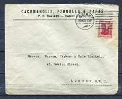 Egypt 1923 Cover Cairo To London UK  Single Usage - Covers & Documents