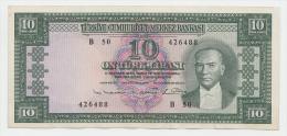Turkey 10 Lirasi 1930 (1960) VF++ Banknote (small Border Split) P 161 - Turkey