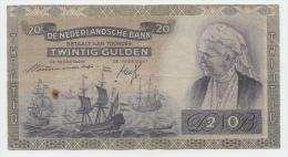 NETHERLANDS 20 GULDEN 1941 VG P 54 - [2] 1815-… : Reino De Países Bajos