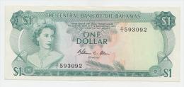 Bahamas 1 Dollar 1974 AXF Crisp Banknote P 35b 35 B - Bahamas