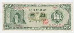 SOUTH KOREA 100 WON 1964 VF+ P 35c 35 C - Corée Du Sud