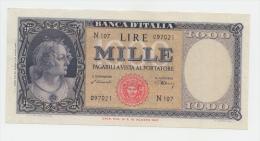 Italy 1000 Lire 1947 XF P 83 - [ 2] 1946-… : Républic
