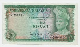 Malaysia 5 Ringgit 1967 - 1972 VF++ P 2a 2 A - Malaysia