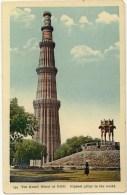 Vintage Postcard, The Kutab Minar At Delhi - Highest Pillar In The World, Delhi, India (ref.# 2925se) - Inde