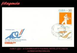 CUBA SPD-FDC. 1990-24 XI CAMPEONATO MUNDIAL DE PELOTA VASCA - FDC