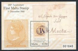 MALTA  Mi.Nr. Block 48 Briefmarken Auf Briefmarke - MNH - Malta