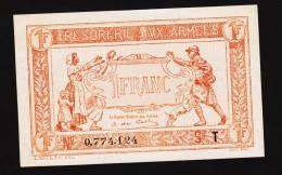 1 Franc TRESORERIE AUX ARMEEE  -- 1919 -- T-- - Tesoro
