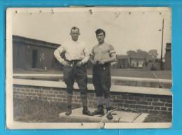 Photographie De Prisonniers En STALAG - Guerre, Militaire