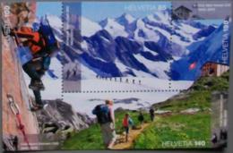 Switzerland 2013 World Heritage- Jungfrau-Aletsch-Bietschh Orn And 150 Years Of Swiss Alpine Club Ss Mint - Switzerland