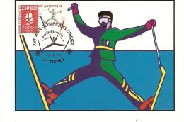 RHONE ALPES - 73 - SAVOIE - ALBERVILLE - JO D'hiver - Premier Jour - TIGNES - Ski Artistique - Cartoline Maximum