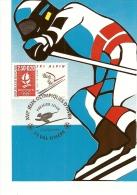 RHONE ALPES - 73 - SAVOIE - ALBERVILLE - JO D'hiver - Premier Jour - VAL D'ISERE - Ski Alpin - Cartoline Maximum