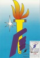RHONE ALPES - 73 - SAVOIE - ALBERVILLE - JO D'hiver - Premier Jour - Parcours Flamme Olympique - Cartoline Maximum